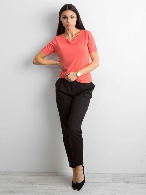 Bluzka z krótkim rękawem ciemnopomarańczowa                              zdj.                              4