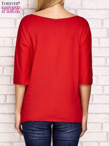 Bluzka z surowym wykończeniem czerwona