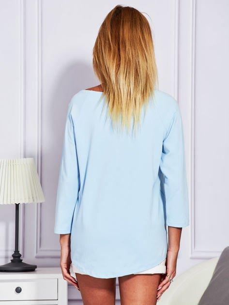 Bluzka z trampkami jasnoniebieska                                  zdj.                                  2