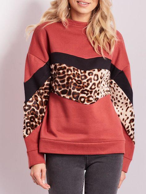 Bordowa bluza damska oversize                              zdj.                              1