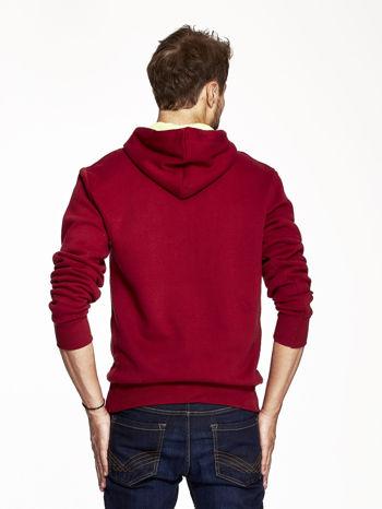 Bordowa bluza męska z motywem Londynu