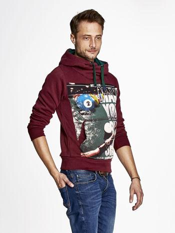 Bordowa bluza męska z napisem MAKE YOUR BEST SHOUT                                  zdj.                                  3