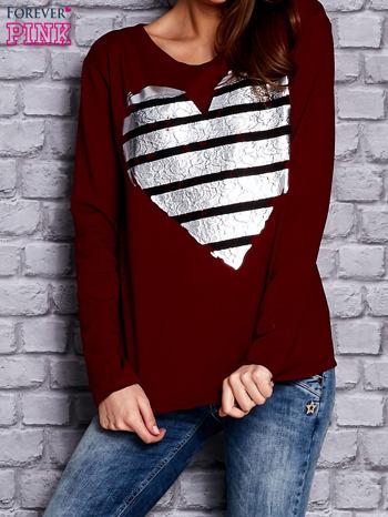 Bordowa bluza z sercem                                  zdj.                                  1