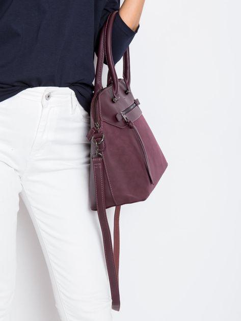 Śliwkowa damska torba z ekoskóry                              zdj.                              3