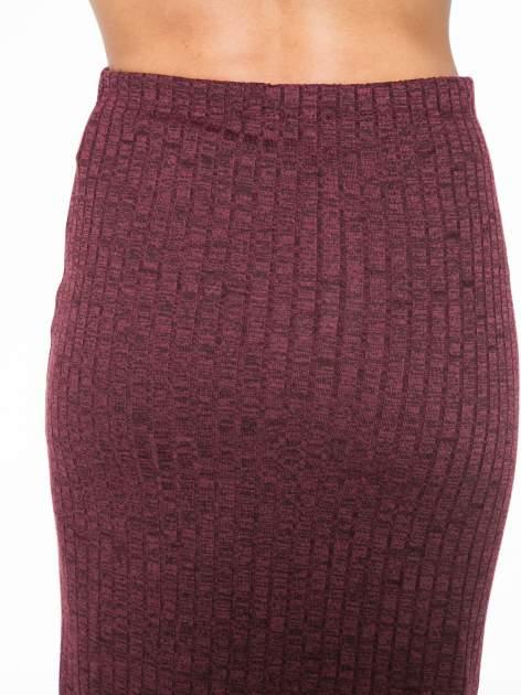 Bordowa dzianinowa spódnica za kolano                                  zdj.                                  6