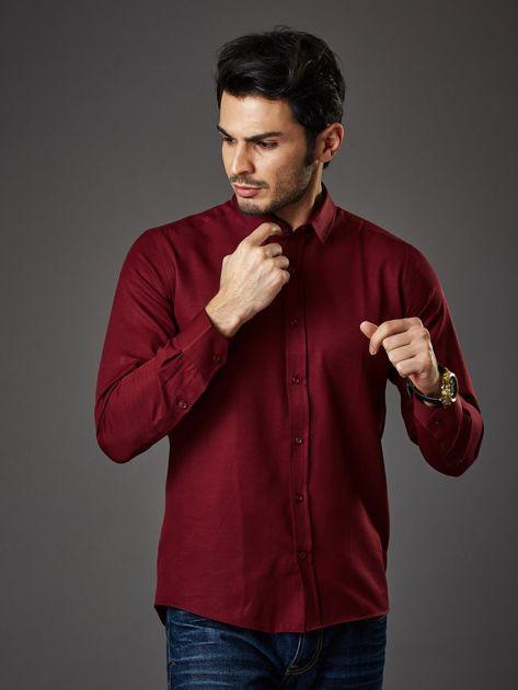 Bordowa koszula męska regular fit                              zdj.                              1