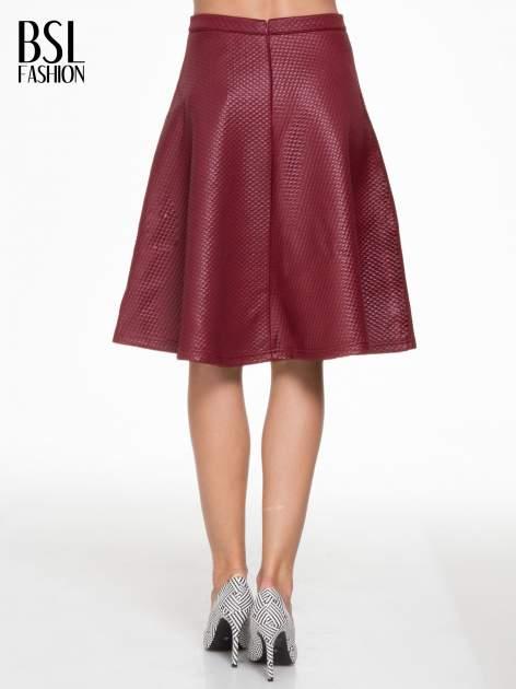 Bordowa pikowana spódnica midi                                  zdj.                                  4
