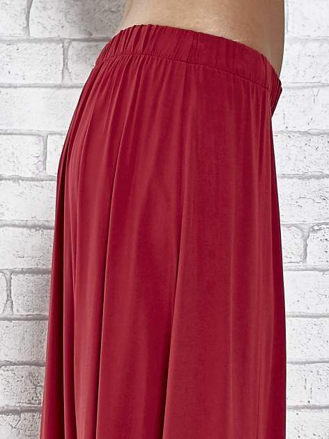 Bordowa spódnica maxi z rozporkami z przodu                                  zdj.                                  6