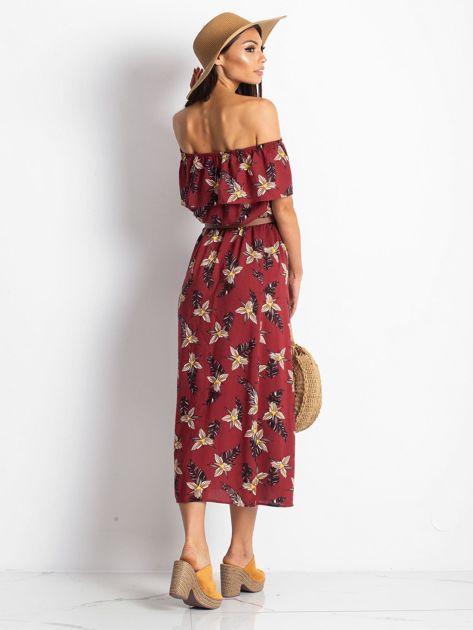 Bordowa sukienka Centerpiece                               zdj.                              2