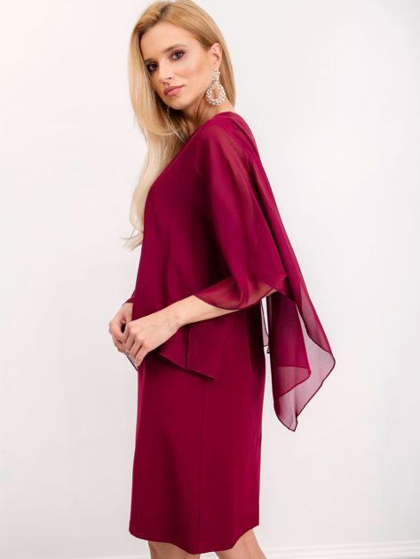 Bordowa sukienka Isabela