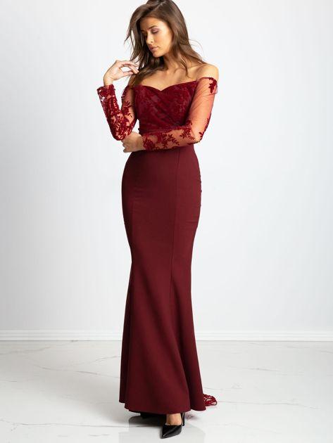Bordowa sukienka Majesty                              zdj.                              1