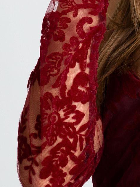 Bordowa sukienka Majesty                              zdj.                              5