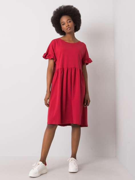 Bordowa sukienka Marietta RUE PARIS