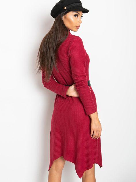 Bordowa sukienka Una                              zdj.                              2
