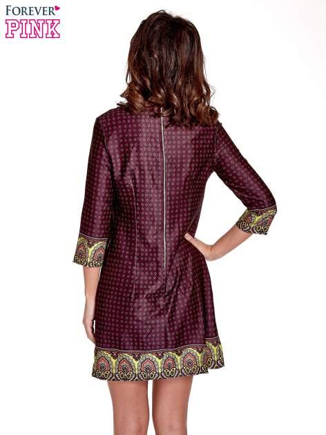 Bordowa sukienka w indyjskim stylu                                   zdj.                                  4