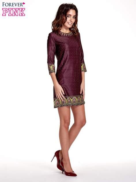 Bordowa sukienka w indyjskim stylu                                   zdj.                                  2