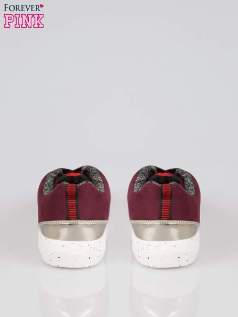 Bordowe buty sportowe faux suede Hollywood z zamszu                                  zdj.                                  3
