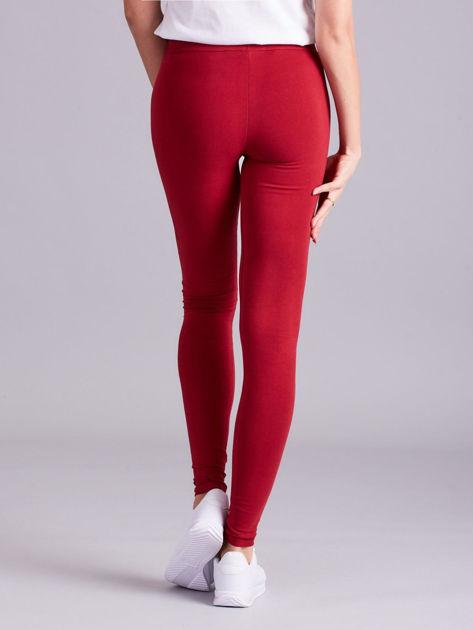 Bordowe legginsy Basic                              zdj.                              2