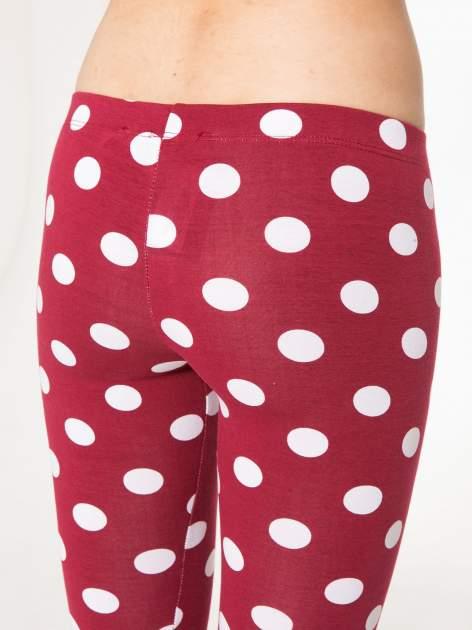 Bordowe legginsy w grochy                                  zdj.                                  6