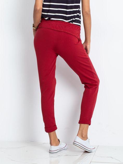 Bordowe spodnie Approachable                              zdj.                              2