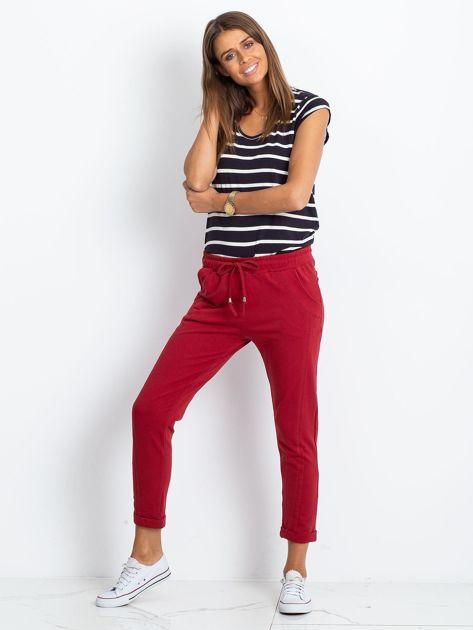 Bordowe spodnie Approachable                              zdj.                              4
