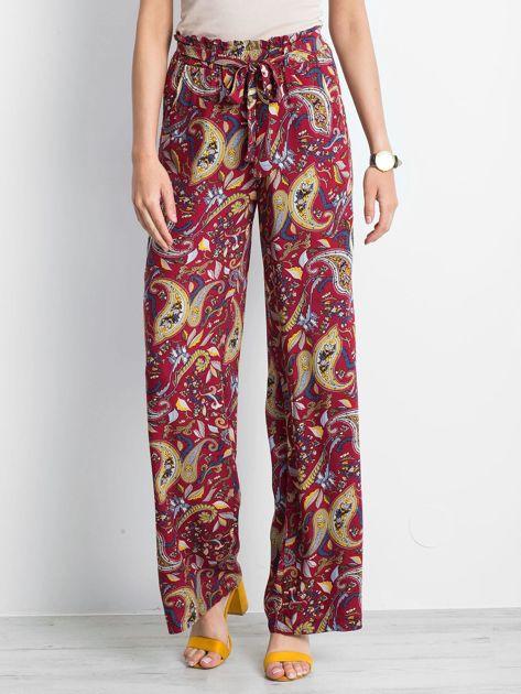 Bordowe spodnie Fairytail