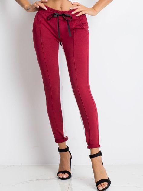 Bordowe spodnie dresowe Defined                              zdj.                              1