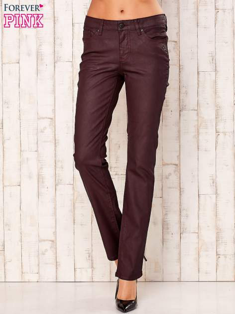 Bordowe spodnie regular                                  zdj.                                  1
