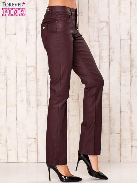 Bordowe spodnie regular                                  zdj.                                  2