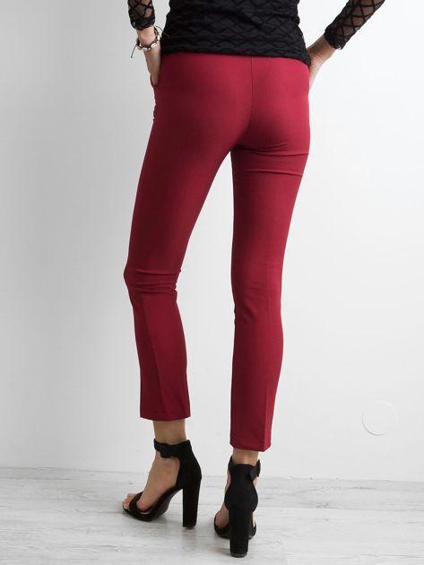 Bordowe spodnie z wiązaniem                              zdj.                              2