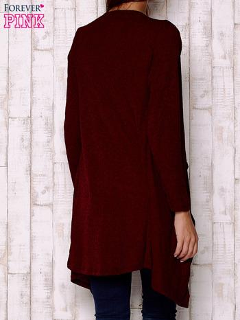 Bordowy melanżowy sweter z otwartym dekoltem                                  zdj.                                  4