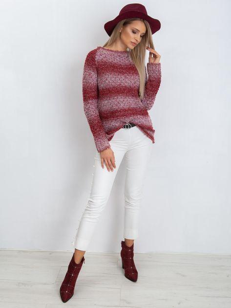 Bordowy sweter Loop                              zdj.                              4