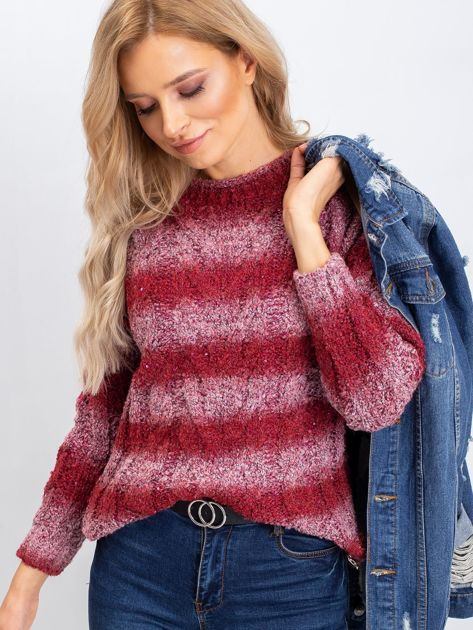 Bordowy sweter Shantelle                              zdj.                              3