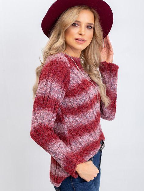 Bordowy sweter West                              zdj.                              3