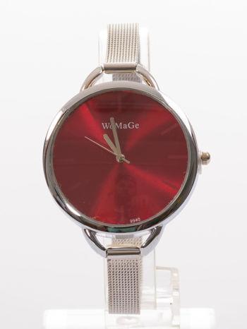 Bordowy zegarek damski na bransolecie                                  zdj.                                  1