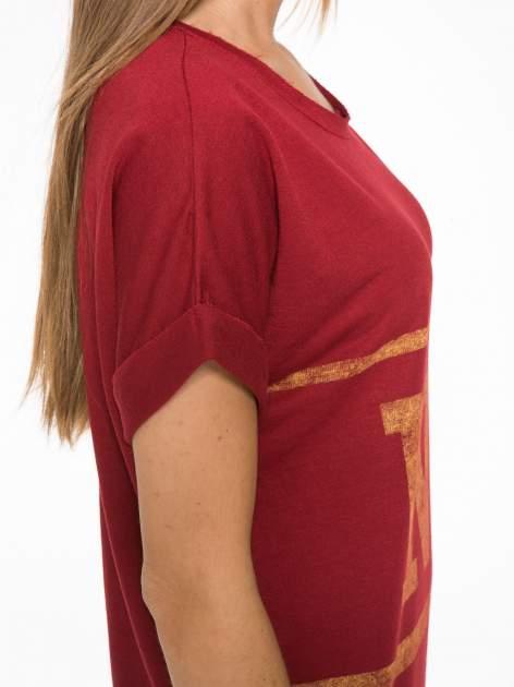 Borodowa bluzosukienka z nadrukiem NYC                                  zdj.                                  9