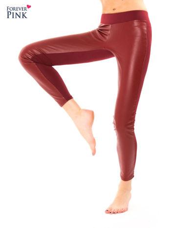 Borodowe dwustronne legginsy skórzane                                  zdj.                                  8