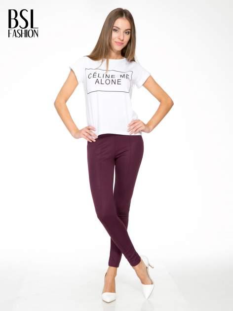 Borodowe modelujące legginsy z wysokim stanem i szwem wzdłuż nogawki                                  zdj.                                  2