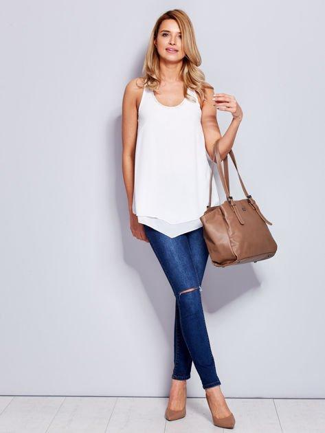 Brązowa miękka torba w miejskim stylu                              zdj.                              6