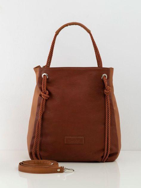 Brązowa miękka torba z ekoskóry