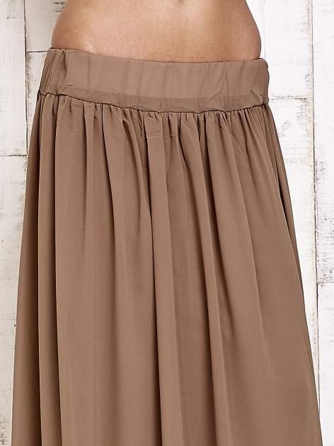 Brązowa spódnica maxi na gumkę w pasie                                  zdj.                                  5