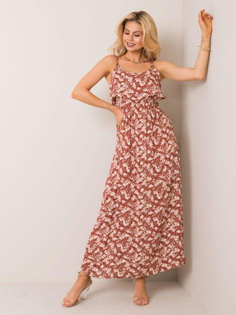 Brązowa sukienka Antonina