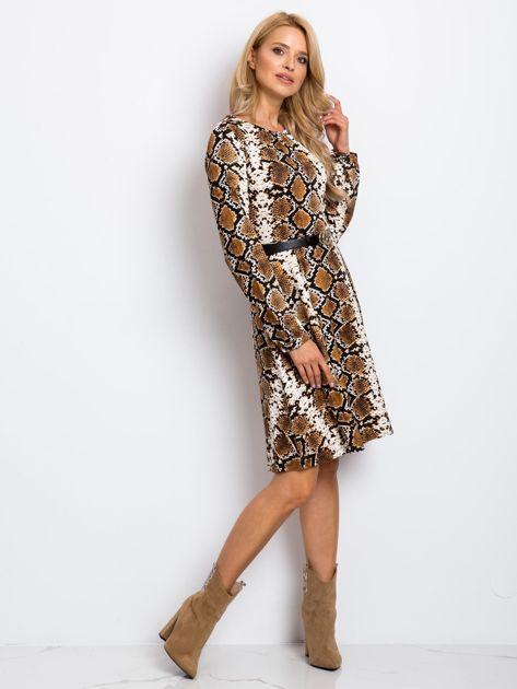 Brązowa sukienka Bossing                              zdj.                              4