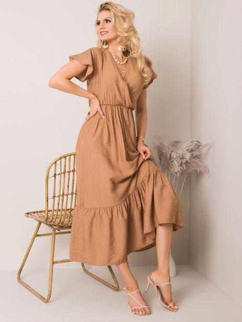 Brązowa sukienka Jayde