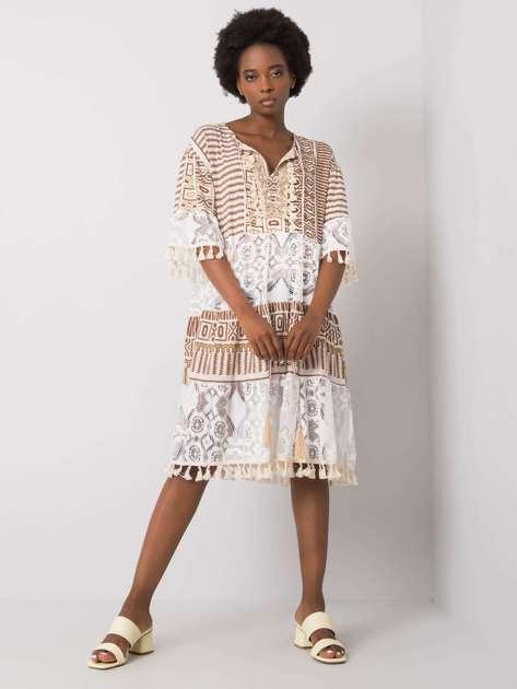 Brązowa sukienka boho Nayeli