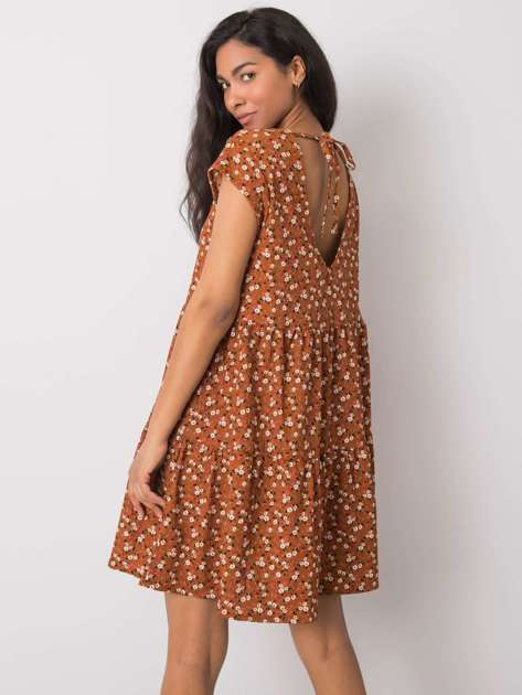 Brązowa sukienka oversize Eve STITCH & SOUL