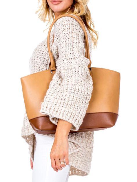 Brązowa torba damska two tone                              zdj.                              4
