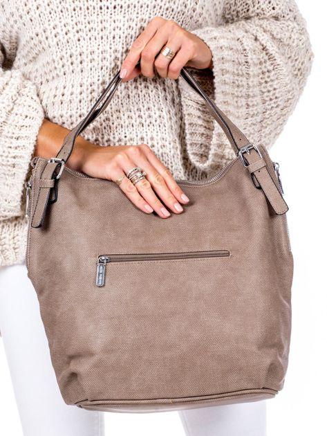 Brązowa torba o plecionej fakturze                              zdj.                              4