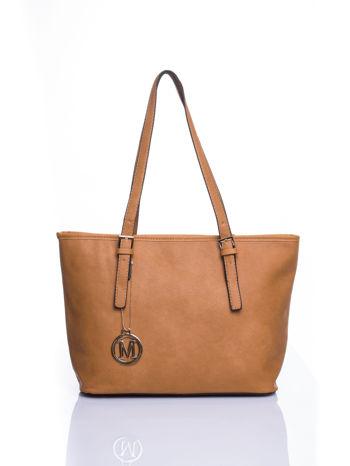 Brązowa torba shopper bag z regulowanymi rączkami