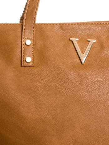 Brązowa torba ze złotym detalem                                  zdj.                                  5